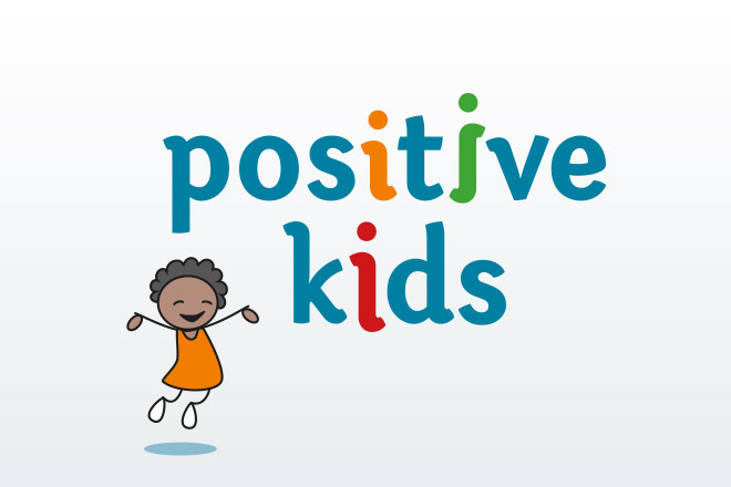 positive kids Logo Illustration
