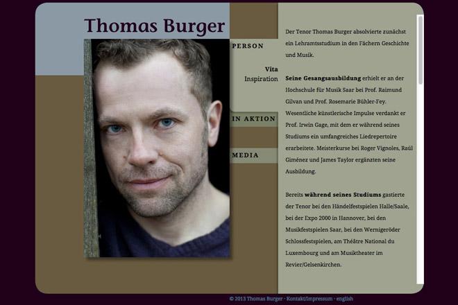 Thomas Burger Tenor Vita