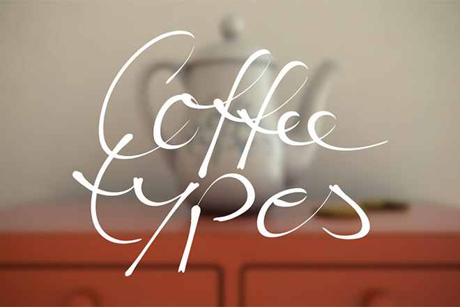 Coffee Types Titel